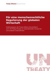 Cover Treaty für eine menschenrechtliche Regulierung