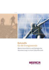 Cover Rohstoffe für die Energiewende