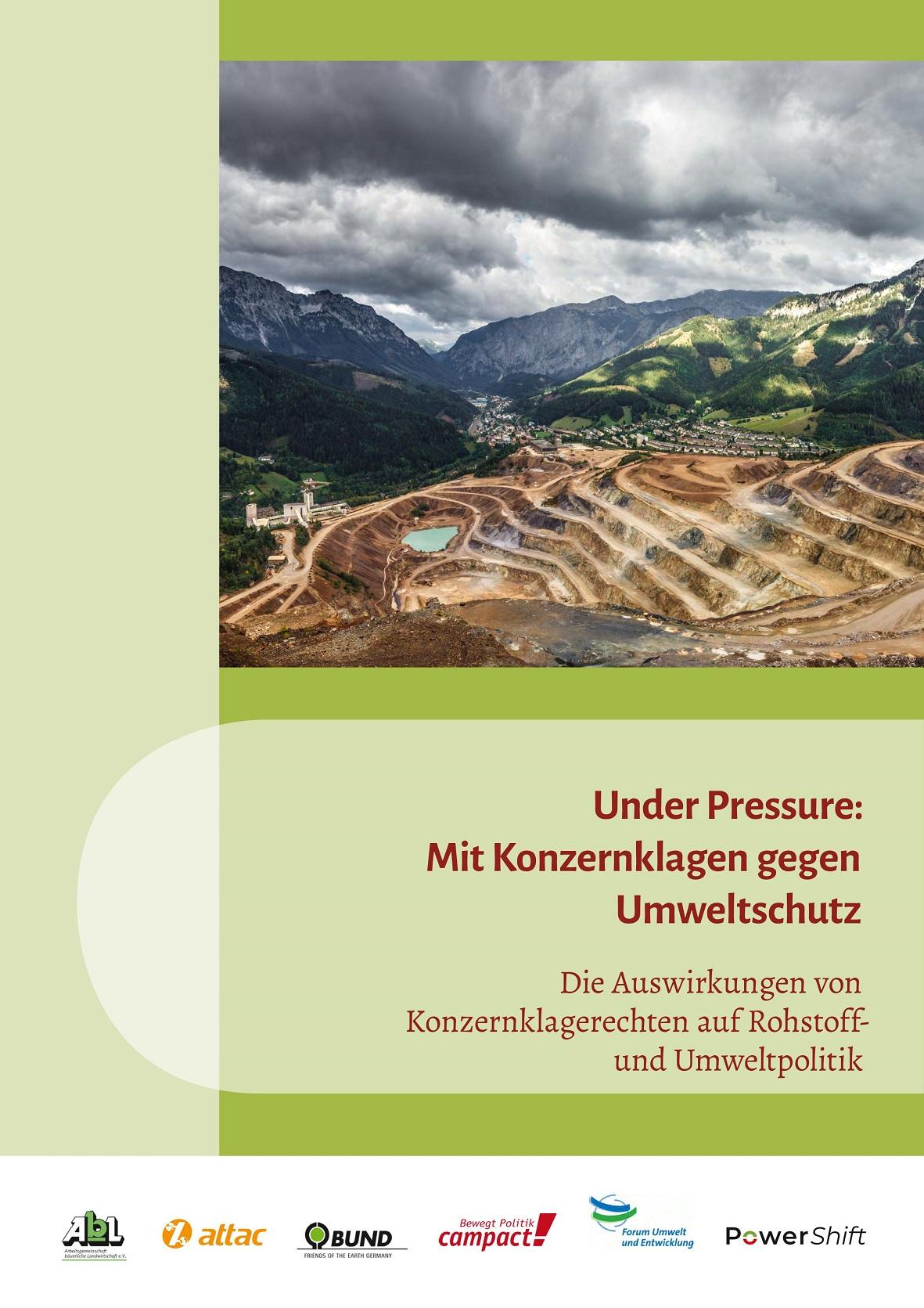 Cover Under Pressure mit Konzernklagen gegen Umweltschutz