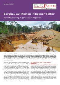 Bergbau auf Kosten indigener Völker