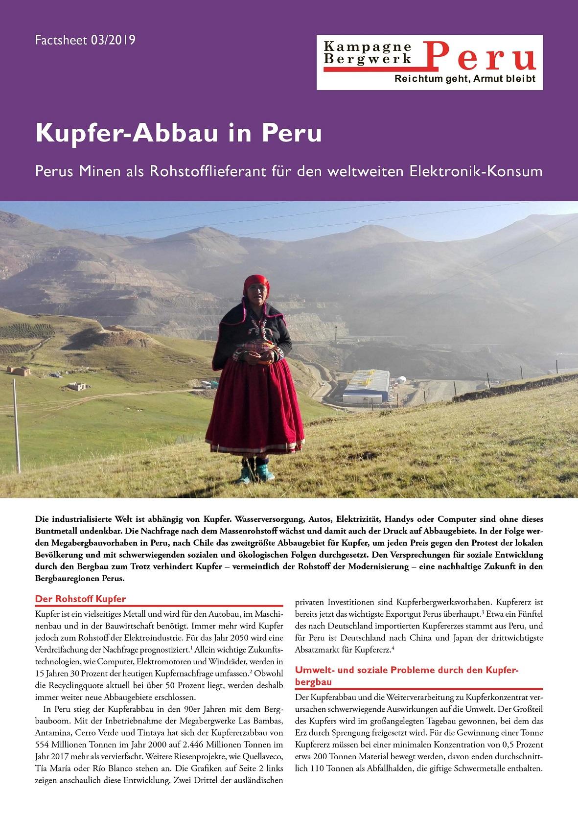 Kupferabbau in Peru