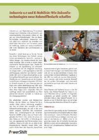 Cover Industrie 4.0 und E-Mobilität